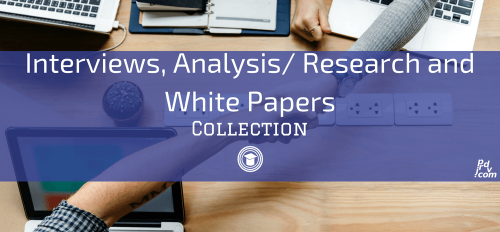Interviews, Analysis _ Research and White Papers OnlineEduReview Collection