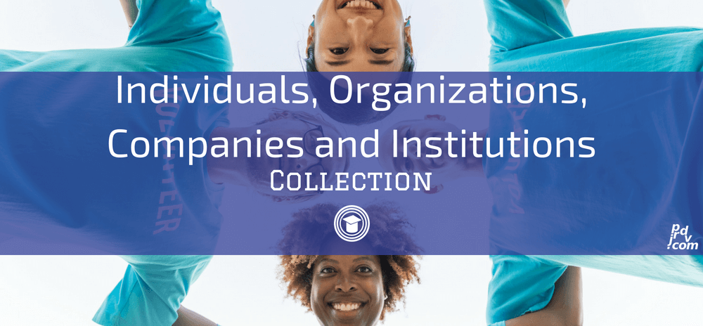 Individuals, Organizations, Companies and Institutions OnlineEduReview Collection