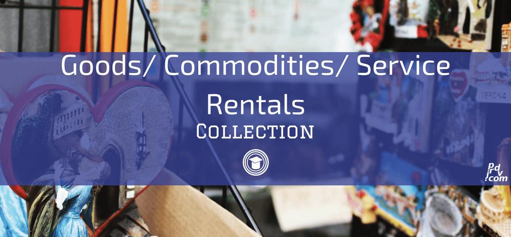 Goods _ Commodities _ Service Rentals OnlineEduReview Collection