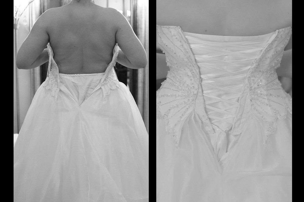 Corset backs the gilded thimble for No back wedding dress