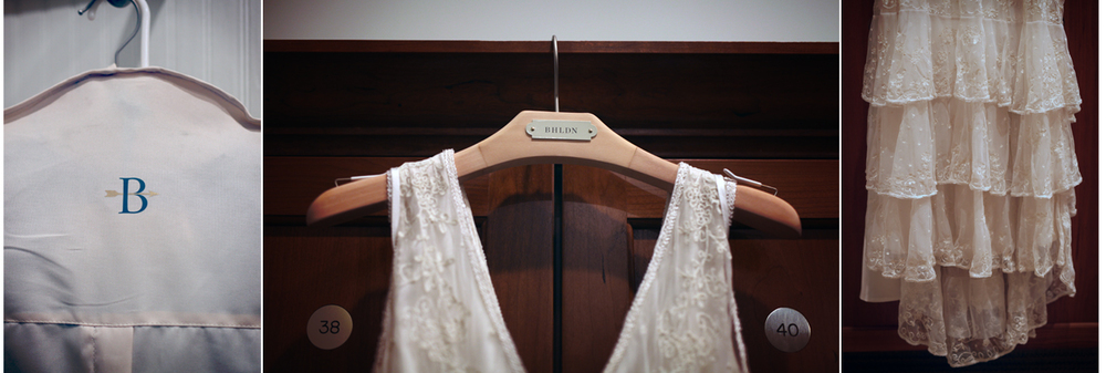 Even though I hadn't forged a prior relationship with this dress, I knew everything was going to be okay when I saw the dress bag for the first time.  BHLDN.  ~sigh~  A Beholden gown.