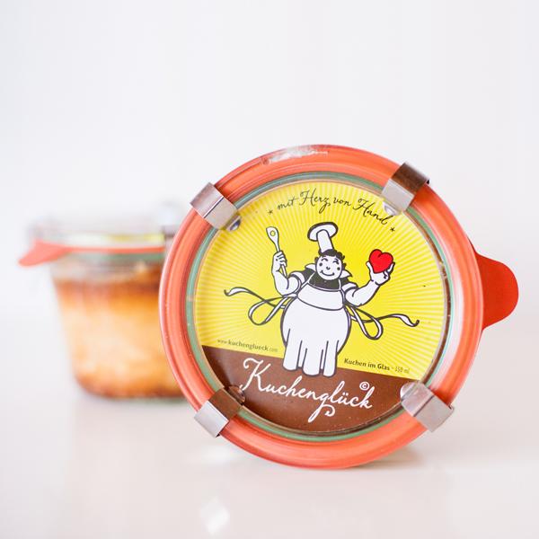 Käsekuchen im Glas gibt es bei www.kuchenglueck.com