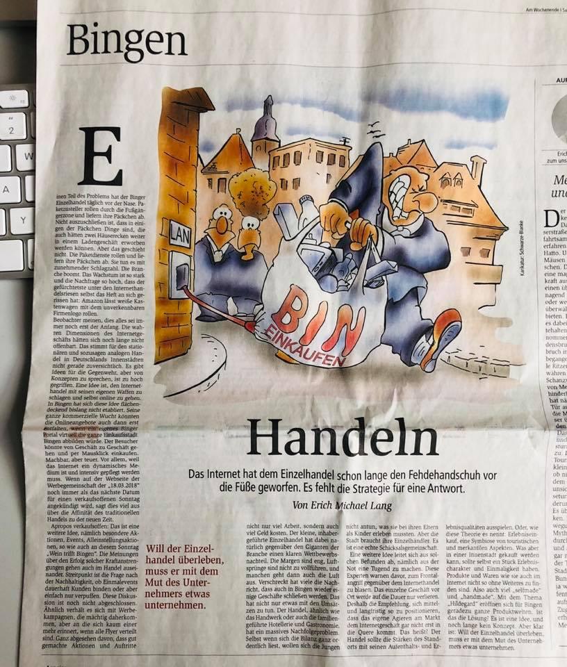 Allgemeine Zeitung Bingen Der stationäre EInzelhandel