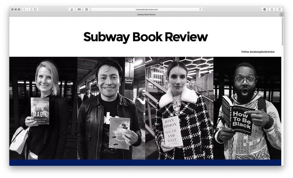 ... für die, die es immer noch nicht kennen: ein Lieblingsprojekt www.subwaybookreview.com