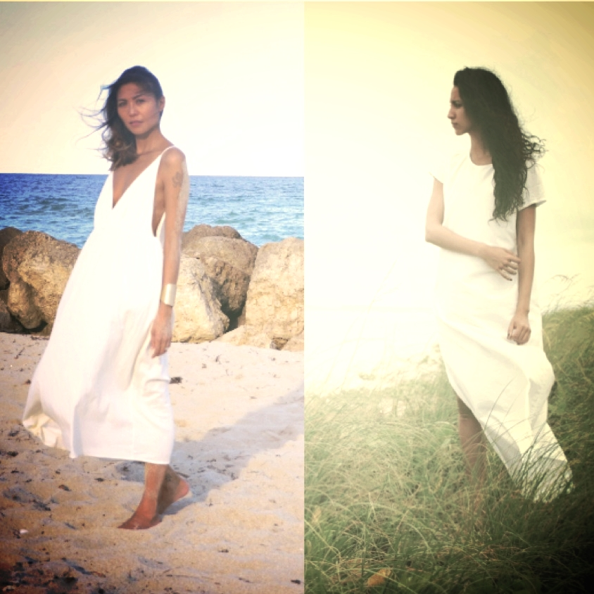 White Manta Cotton Dresses - Back in stock soon!