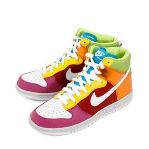 Nike Dunk High Metallic Rainbow
