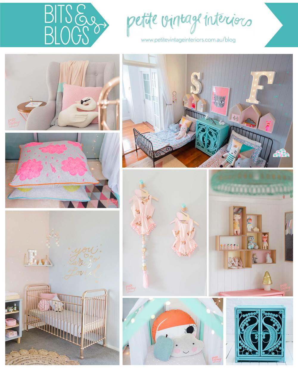 Images from Petite Vintage Interiors