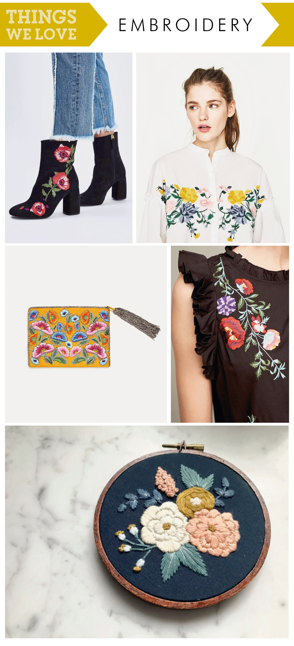 image credits- Topshop, Zara, Anthropologie, www.etsy.com/uk/listing/500537005/embroidery-hoop-art-embroidery-hand