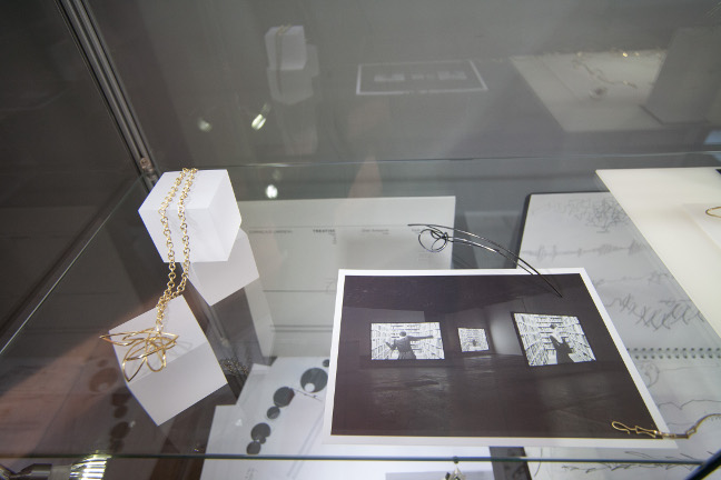 Jewellery, sketches, process material, photograph from   Lying in Wait   film installation