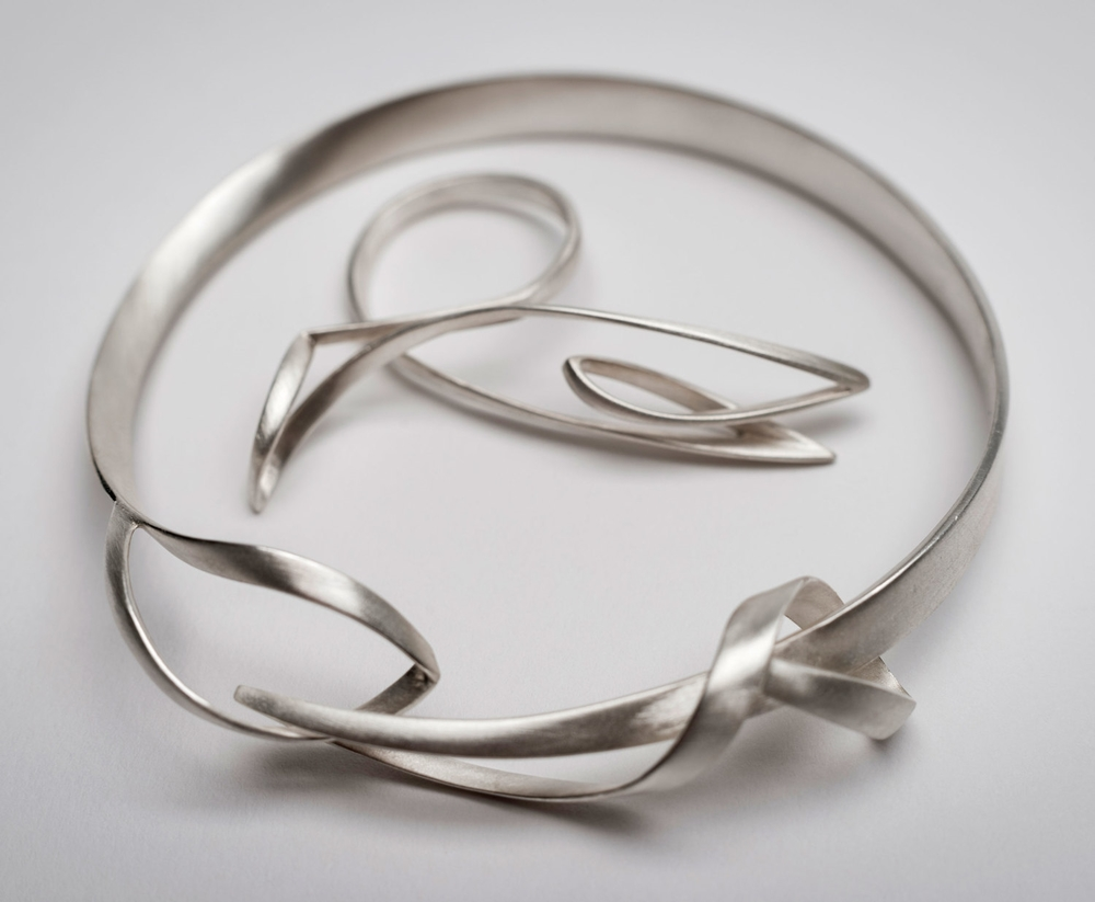 Sarah Warsop,   Then. And then,   bangle and ring, silver, 2014