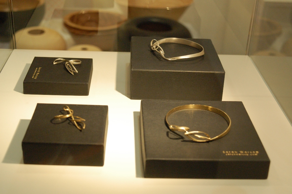 Sarah Warsop Then. And then ring and bangle, silver. Then. And then ring and bangle, 18t gold. Photo: Antonio Maria Storch