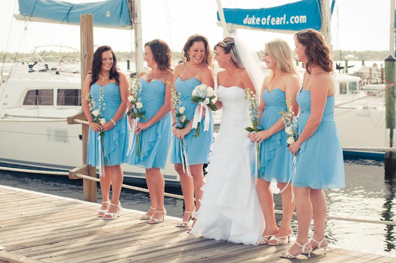Sarasota Wedding Photographer Alyssa Shrock photographs a wedding at the marina