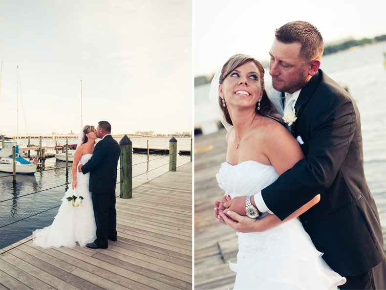 Sarasota Wedding Photographer Alyssa Shrock photographs wedding at marina