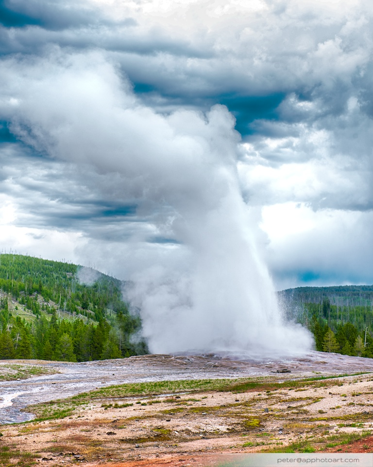 Old Faithful - The Old Faithful geyser itself