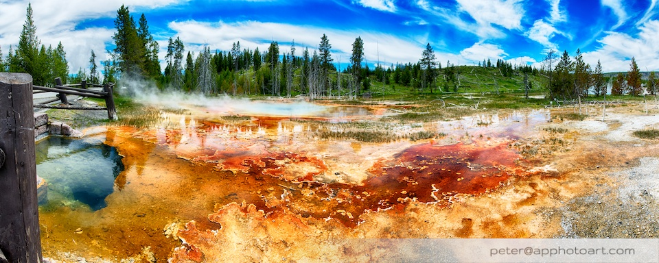 Old Faithful - Chain pools and Bottomless Pit pool