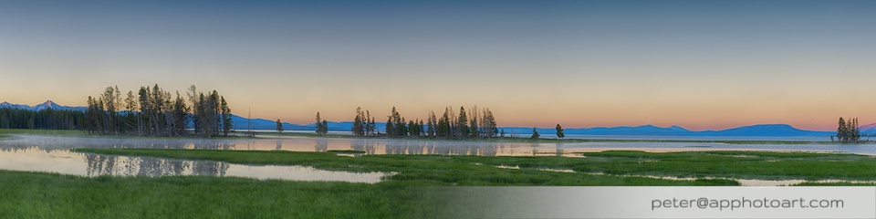 Lake Yellowstone - Morning at Pelican Creek