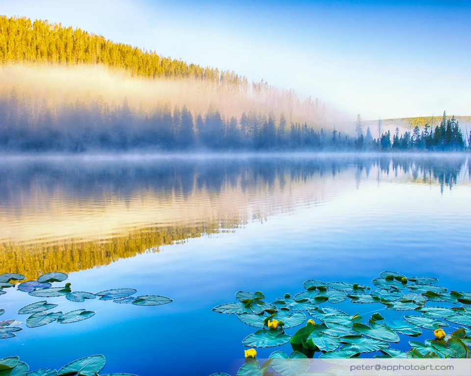 Twin Lakes - Morning mist