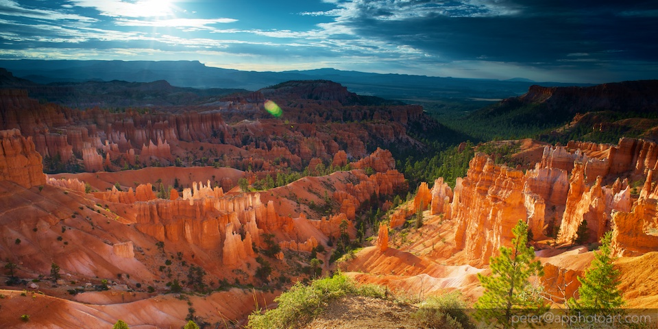 30 minutes after sunrise in Bryce Canyon