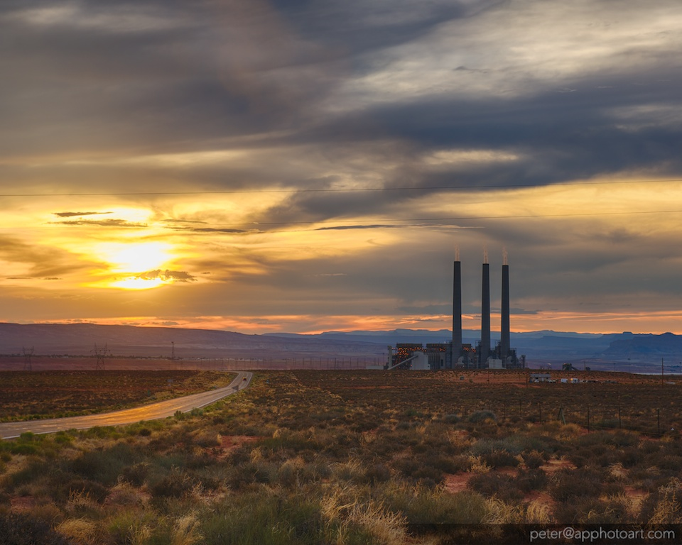Navajo Generating Station at Sunset
