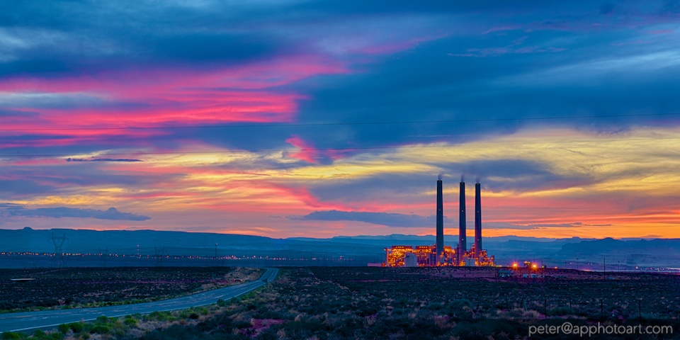 Navajo Generating Station at Dusk