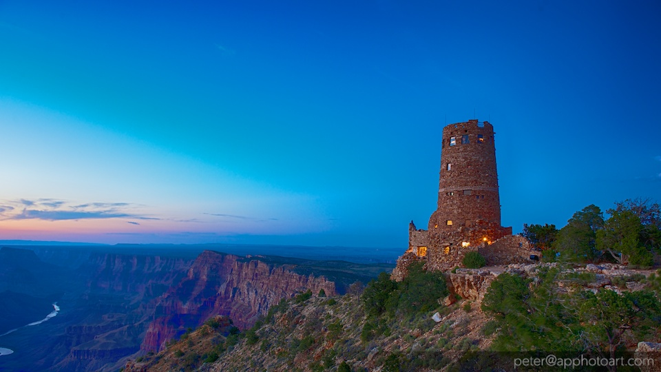 Watchtower at Desert View at South Rim in Grand Canyon