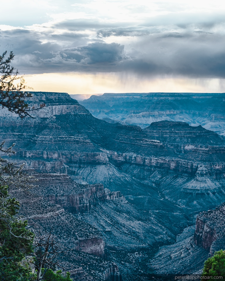 Storm at North Rim observed from South Rim