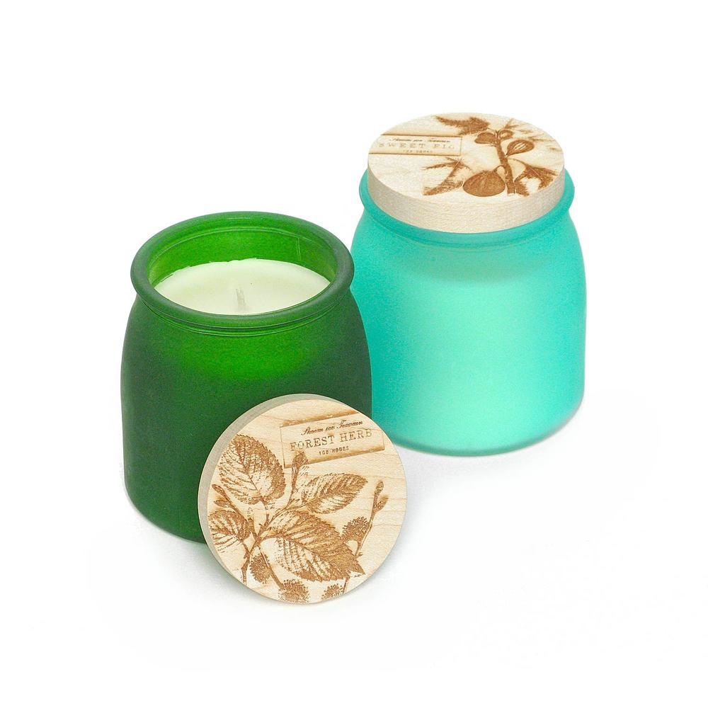 Botanical Ink Pot Candles
