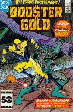Booster Gold, created by Dan Jurgens in 1986.