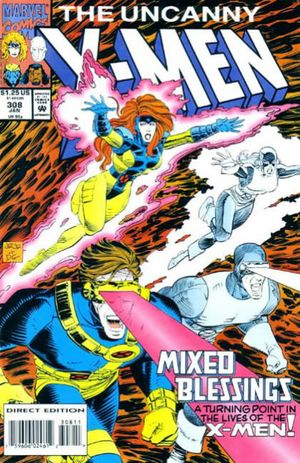 I did make a decision about what I wanted my very first American comic book to be. Uncanny X-Men #308 by Scott Lobdell and John Romita Jr.