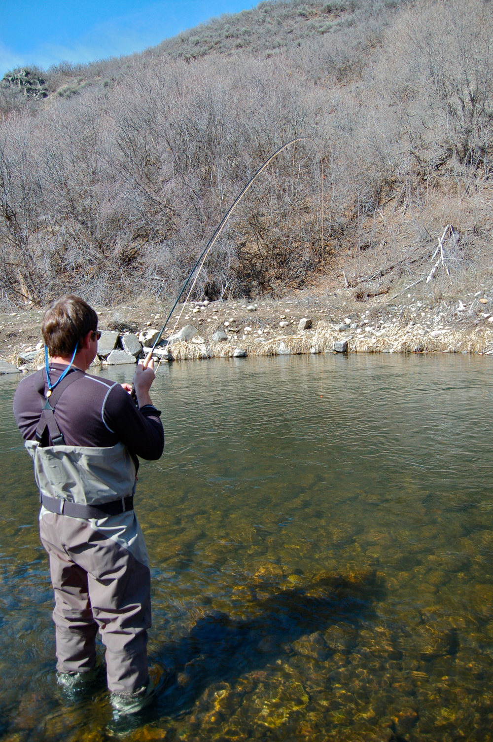 Nymphing with new client on the middle Provo River