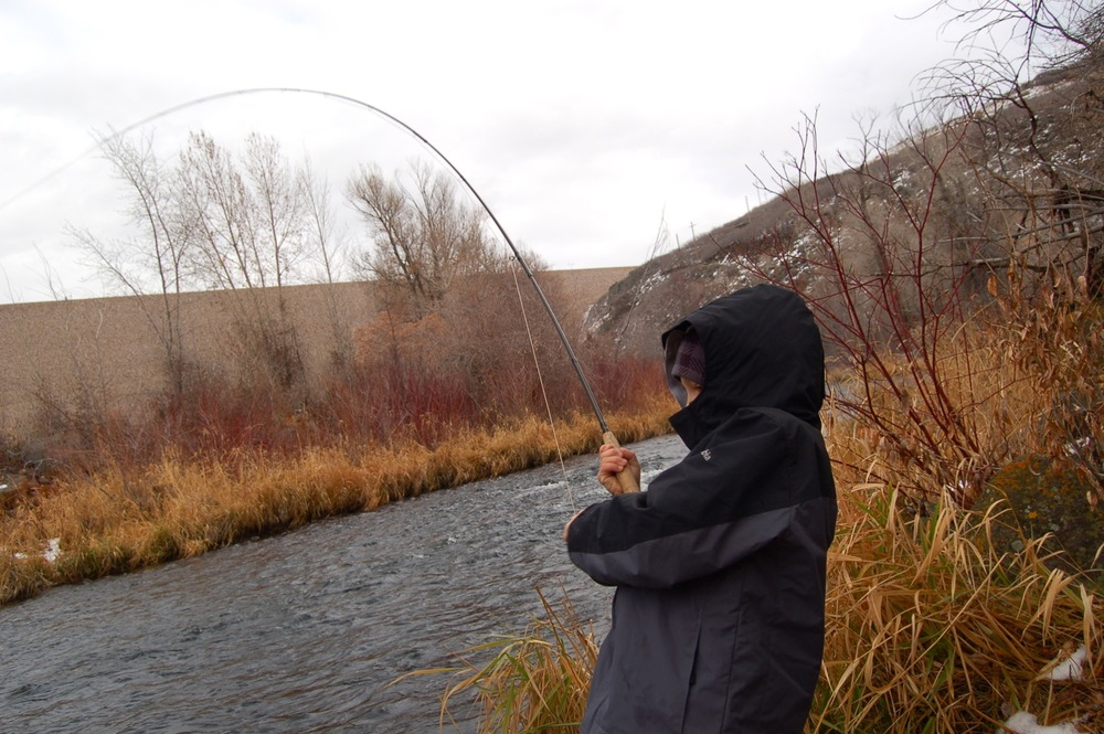 Aidan rocked his first time out fly fishing!