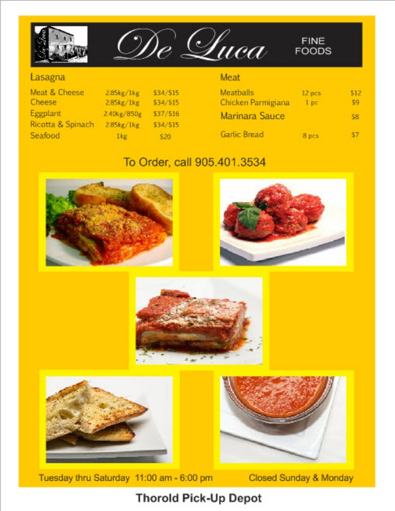 If any product that you wish to purchase that is not listed on this menu, just ask Sandy and he will get it for you.