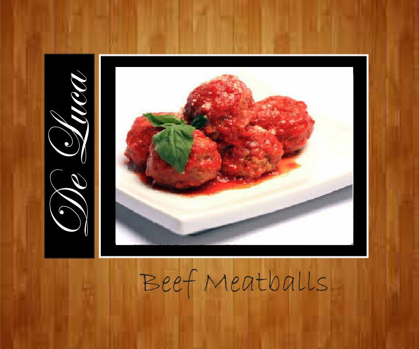 All Beef Meatballs (12 Pcs) $12