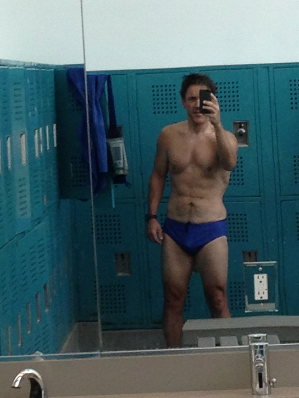 Guys always freak out for some reason when you break out a camera phone in the locker room.