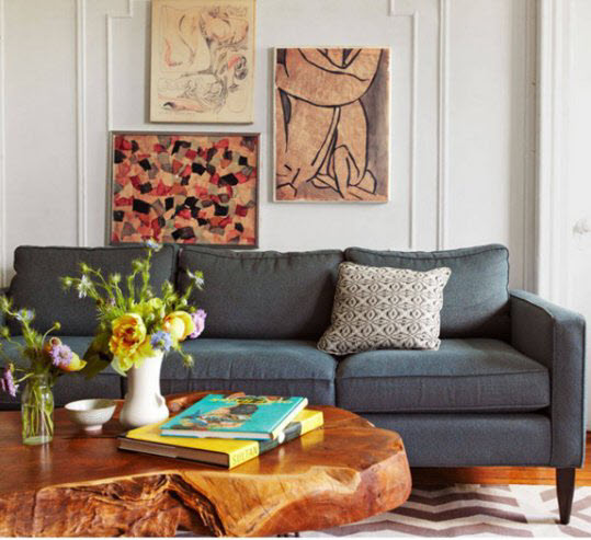 Knowles' Carroll Gardens Apt. Photo Credit: Paul Costello. via  Elle Magazine