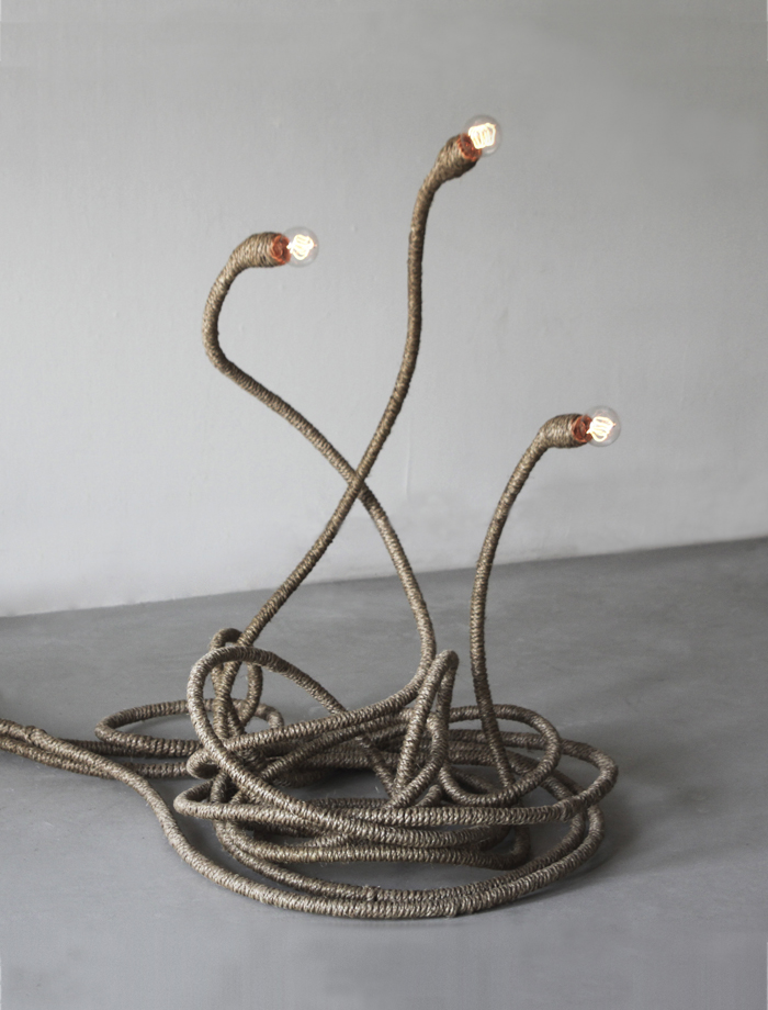 Hemp Rope +  Copper Pipe Lighting by Jay Sae Jung, via Flodeau
