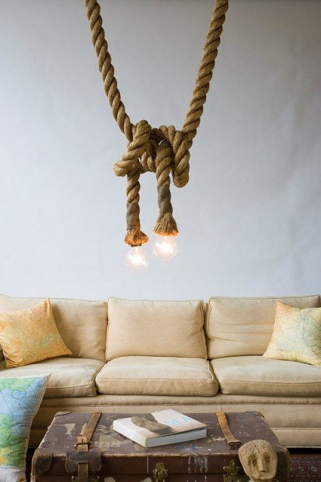 Original Manila Rope Lights,  Atelier 688  via Etsy
