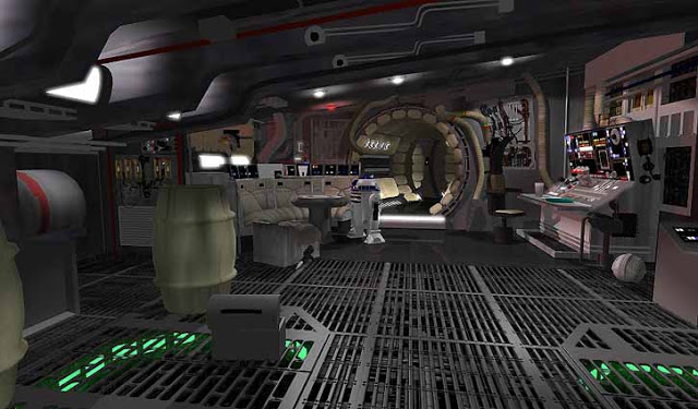 Screen Depiction of Millenium Falcon Interior. via  Seansgallery.com