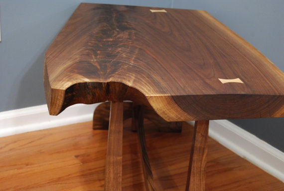 Live Edge Walnut Table  - JRishelWoodworks ($850), Etsy.com