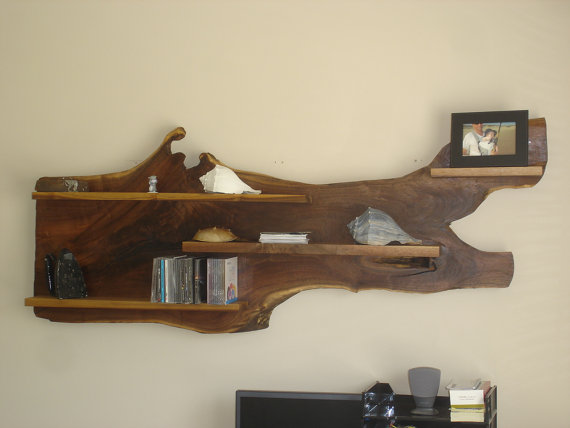 Live Edge Wall Shelf   - Shuey Fine Furniture ($575), Etsy.com