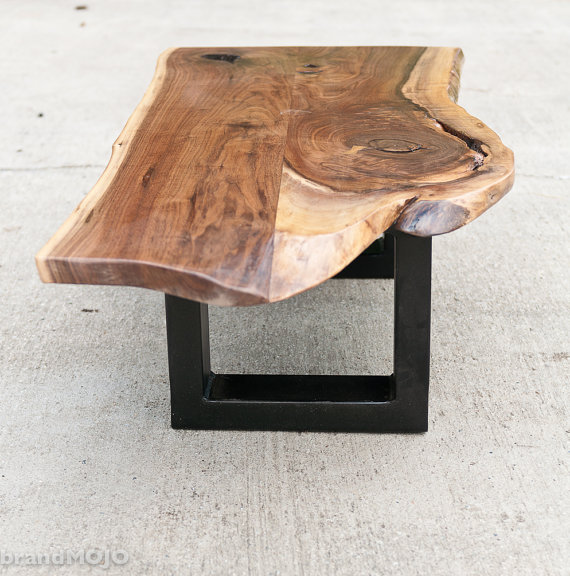 Acero Steel Base Coffee Table  - BrandMojoInteriors ($950), Etsy.com