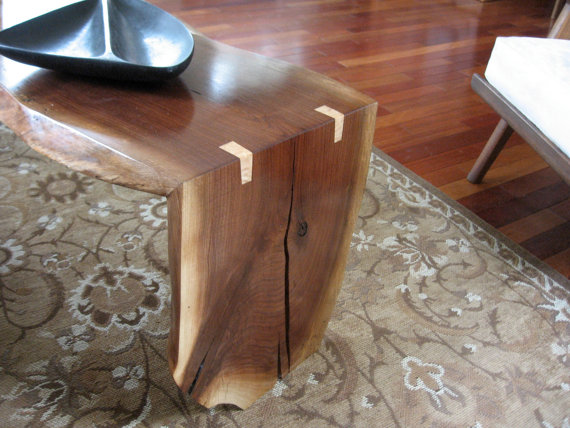 Black Walnut Folded Slab Coffee Table  - BrentGableWoodworks ($1,200), Etsy.com