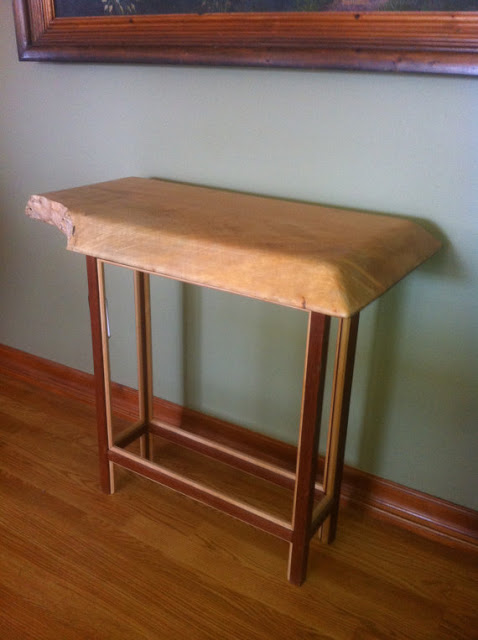 Maple & Mahogany Accent Console Table  - VoumiciPadaci ($275), Etsy.com