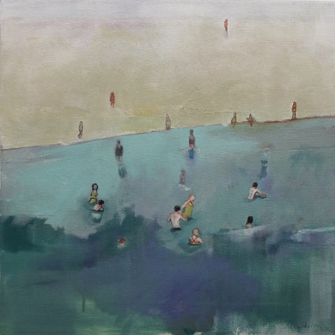Coney Island by Charlotte Evans, Oil on Canvas