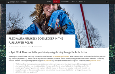 Featured in the January 2015 issue of misadventuremag.com