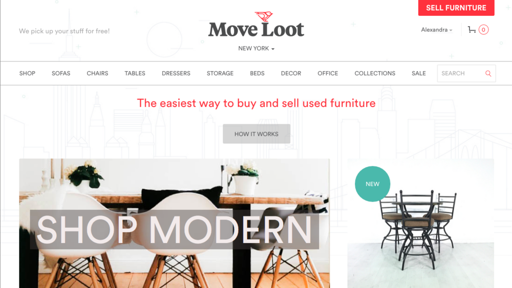 Shop move loot in new york common bond design for Online shopping sites in new york