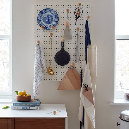 FOOD 52  A Pegboard Wall DIY That Would Make Julia Child Proud