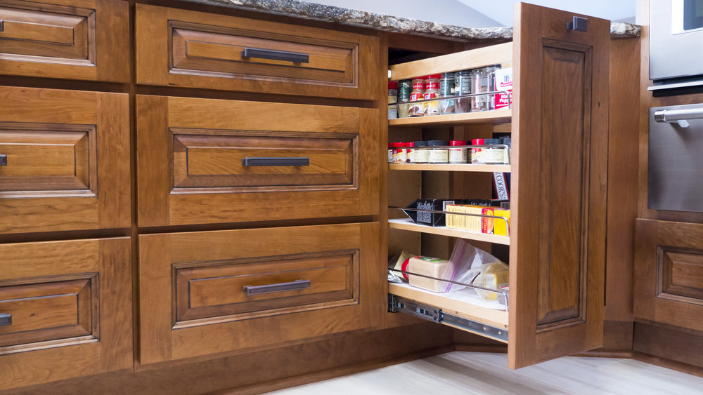 Cabinet base pullout