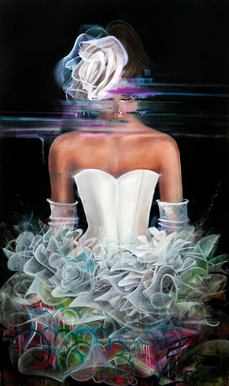 |Oil and Spraypaint on Canvas|| 152cm x 90cm||2014|