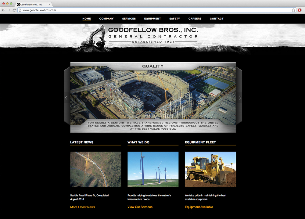 New 2014 website redesigned to encompass GBI's growing presence as an industry leader with a deep history.